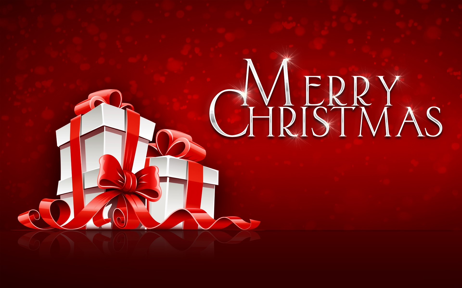 Merry Christmas Gift on Festival Red Background HD Wallpapers HD 1920x1200