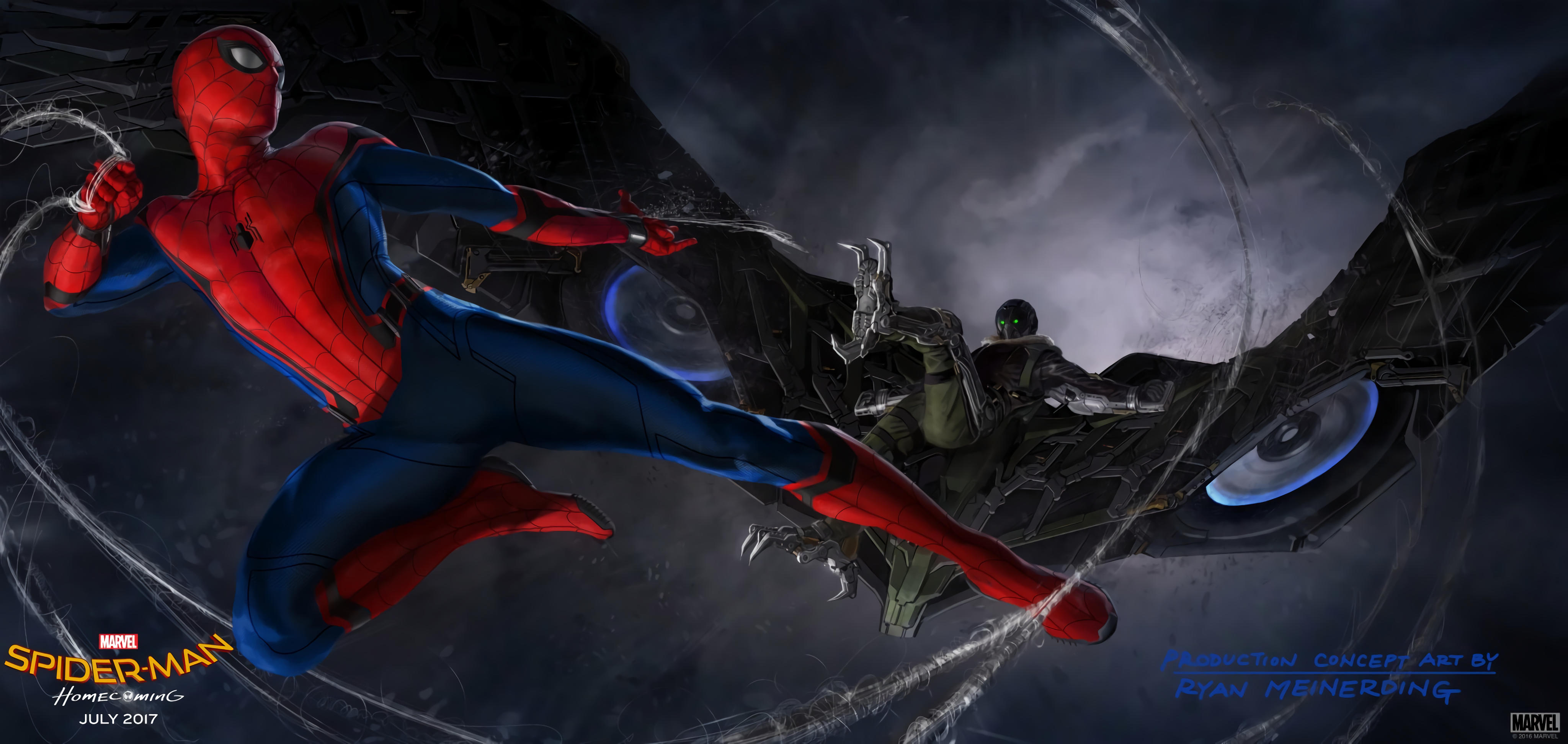 Spider Man Homecoming Concept Art HD Wallpaper Background Image 4096x1944