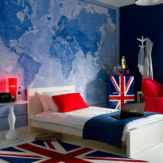 Kids Bedroom Wallpaper Map 550x550