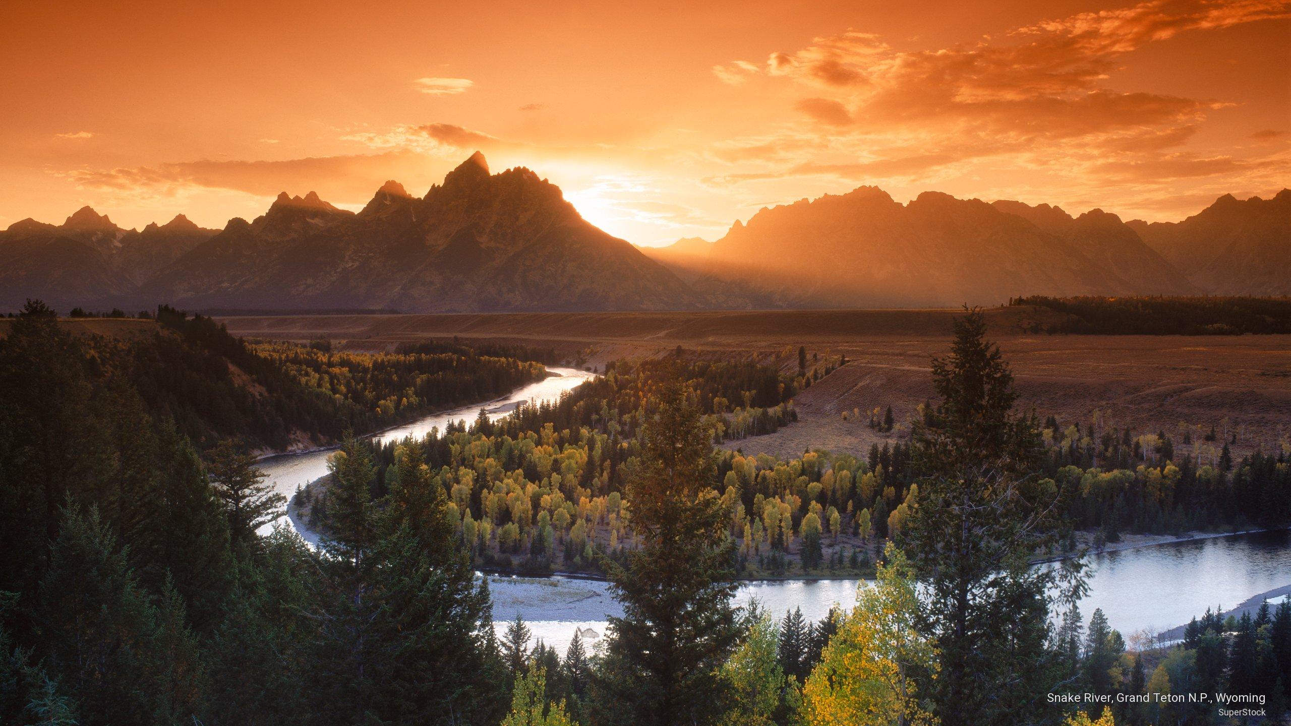 Snake River Grand Tetons National Park Near Jackson Hole Wyoming 2560x1440