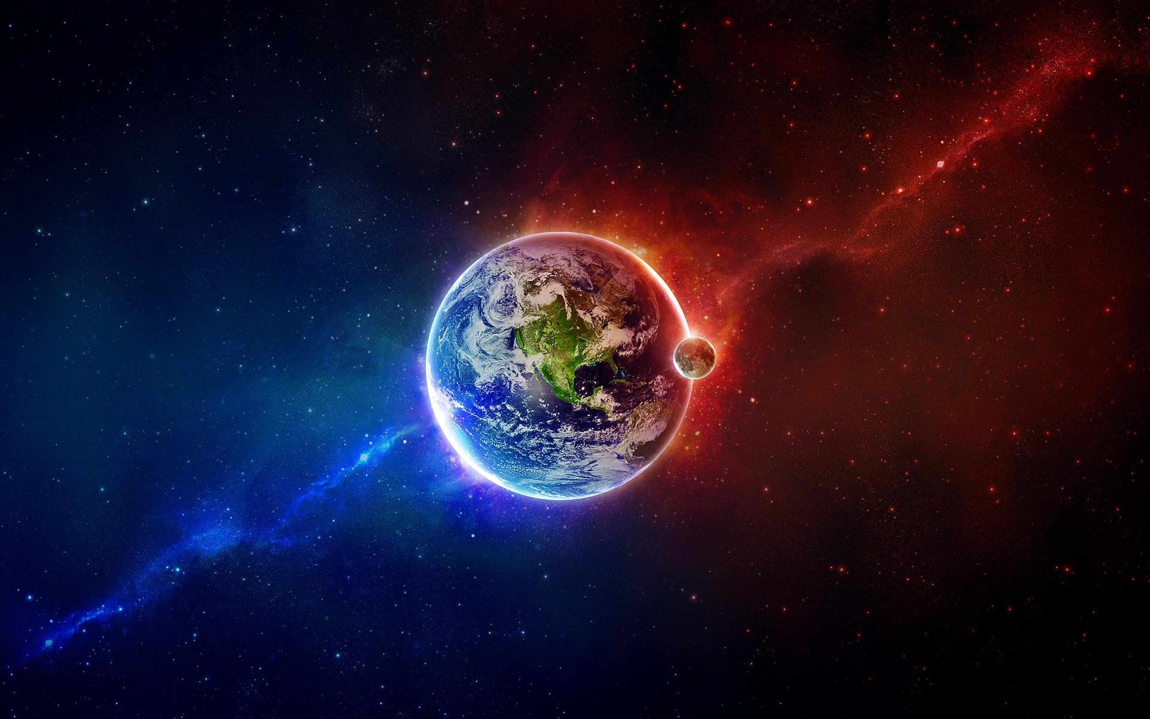 Earth from outer space Ultra HD Wallpaper   Imgur 3840x2400