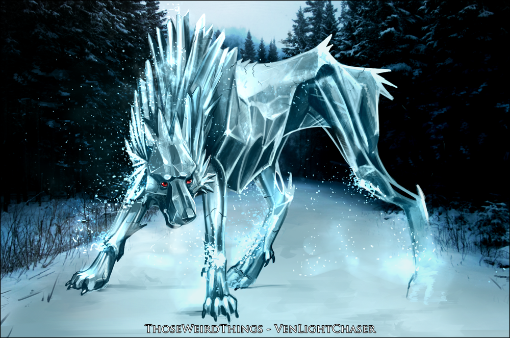 The Ice Wolf by ThoseWeirdThings 1000x663