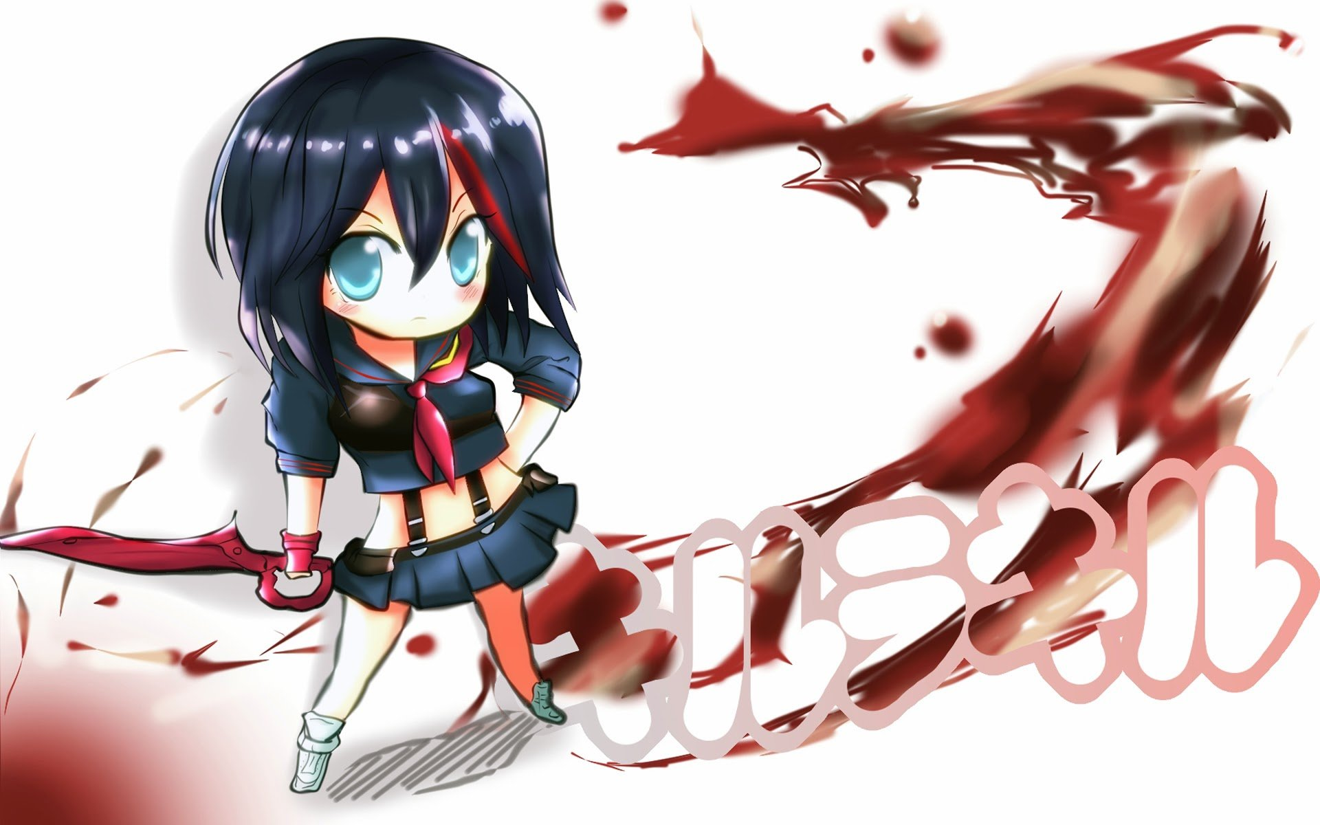 matoi ryuko chibi kill la kill anime girl image hd wallpaper 1920x1200 1920x1200