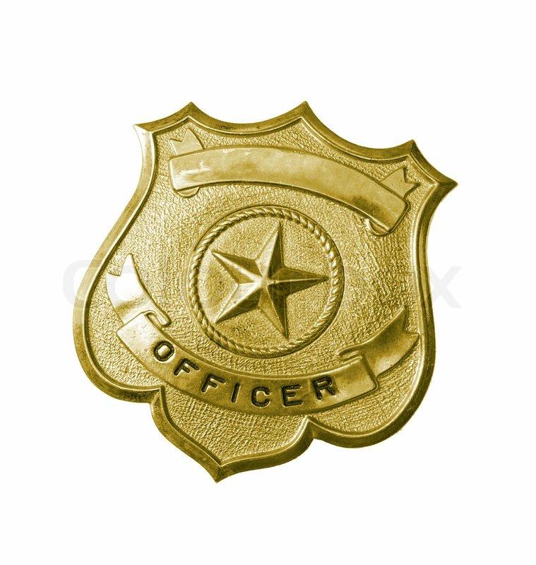 Police Badge Background Of police golden badge 759x800