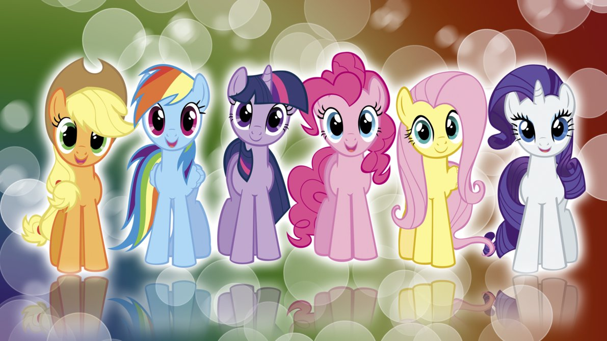 My Little Pony FIM Mane 6 Colors Wallpaper by BlueDragonHans on 1191x670