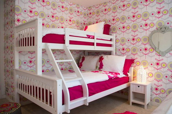 Bedroom Wallpaper Ideas for Girls in Pink Rose Bedroom Wallpaper 600x398