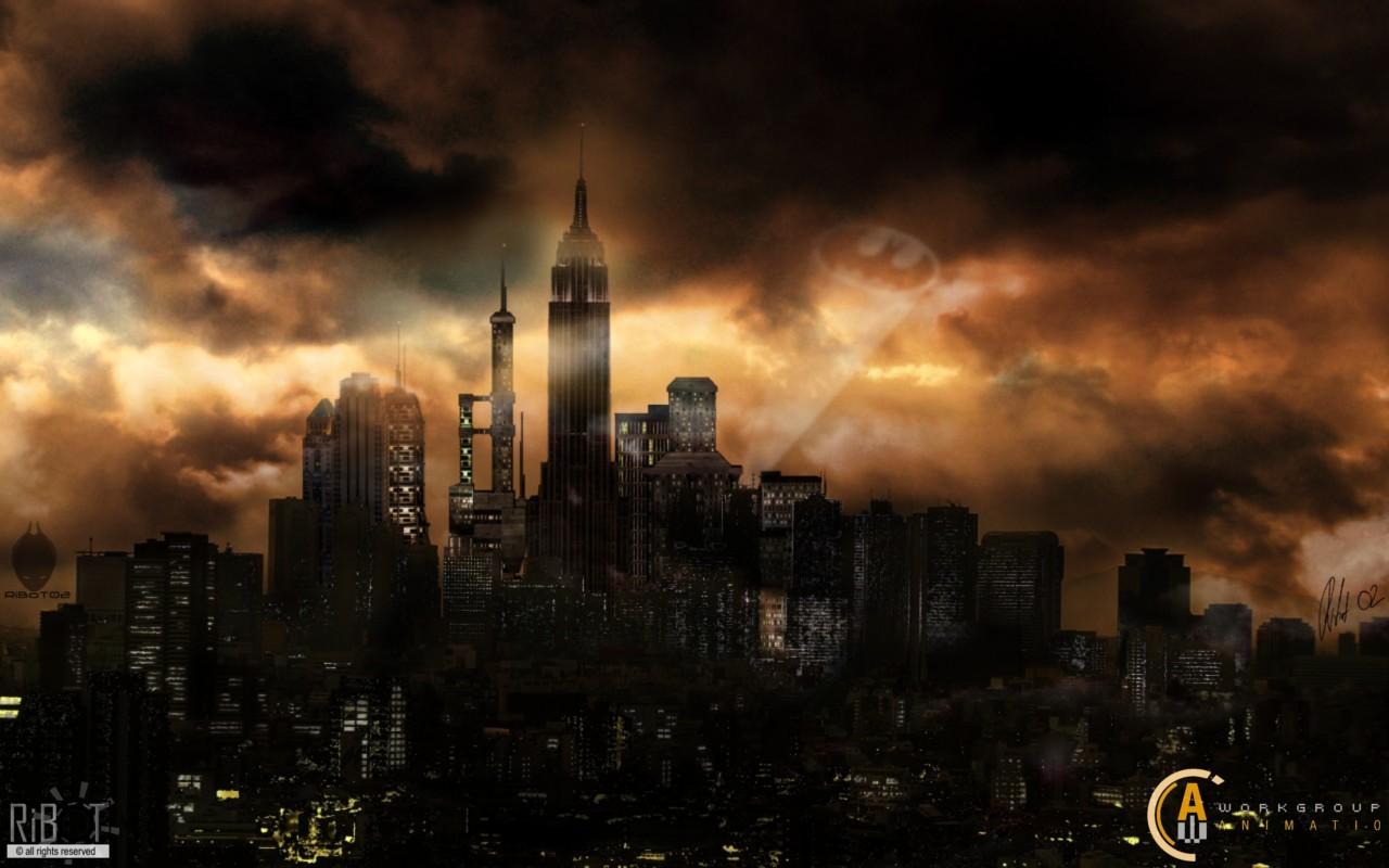 Gotham city hd wallpaper wallpapersafari - Gotham wallpaper ...