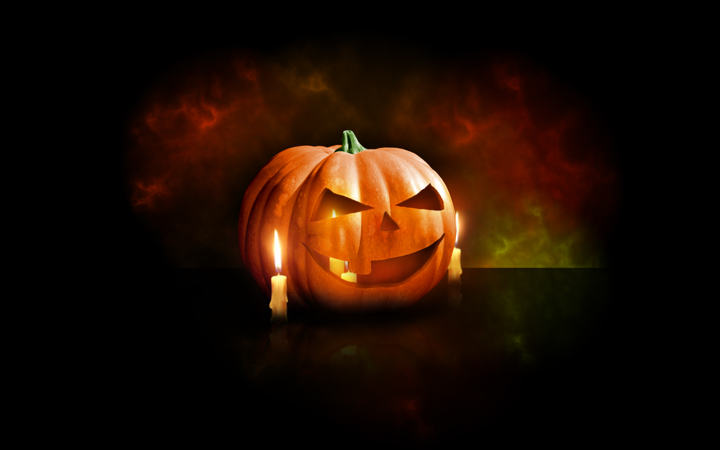 Design a Halloween Pumpkin Wallpaper in Photoshop 1440x900