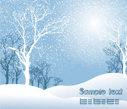 Elements of Winter with Snow backgrounds vector 01   Vector Background 500x428