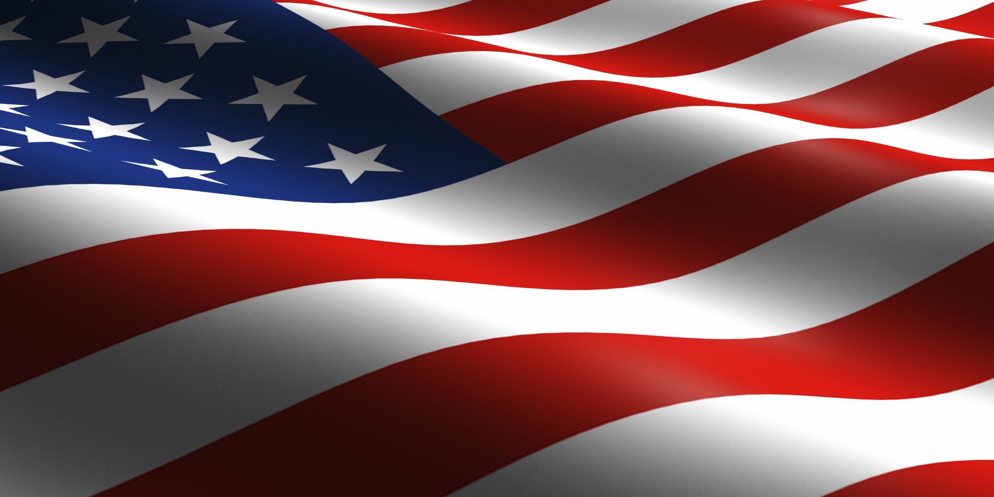 USA Flag Wallpaper 1960x980