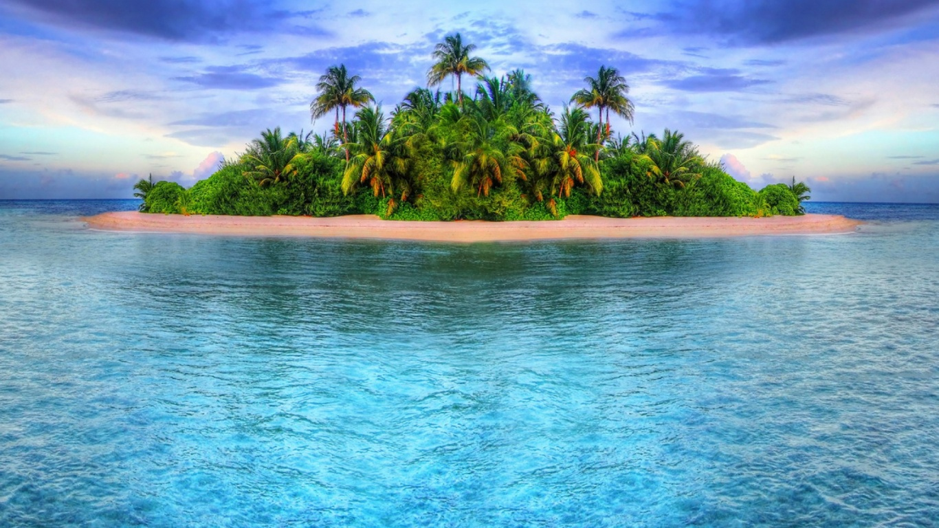 1366x768 Tropical Island desktop PC and Mac wallpaper 1366x768