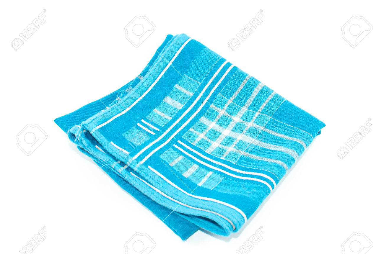 A Object Of Sky Blue Scott Handkerchief Isolated On White 1300x861
