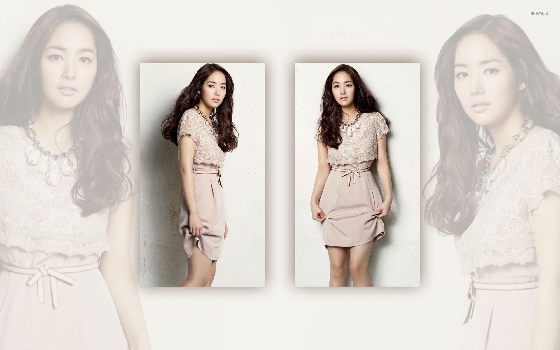Park Min young in a kaki dress wallpaper   Celebrity 1920x1200