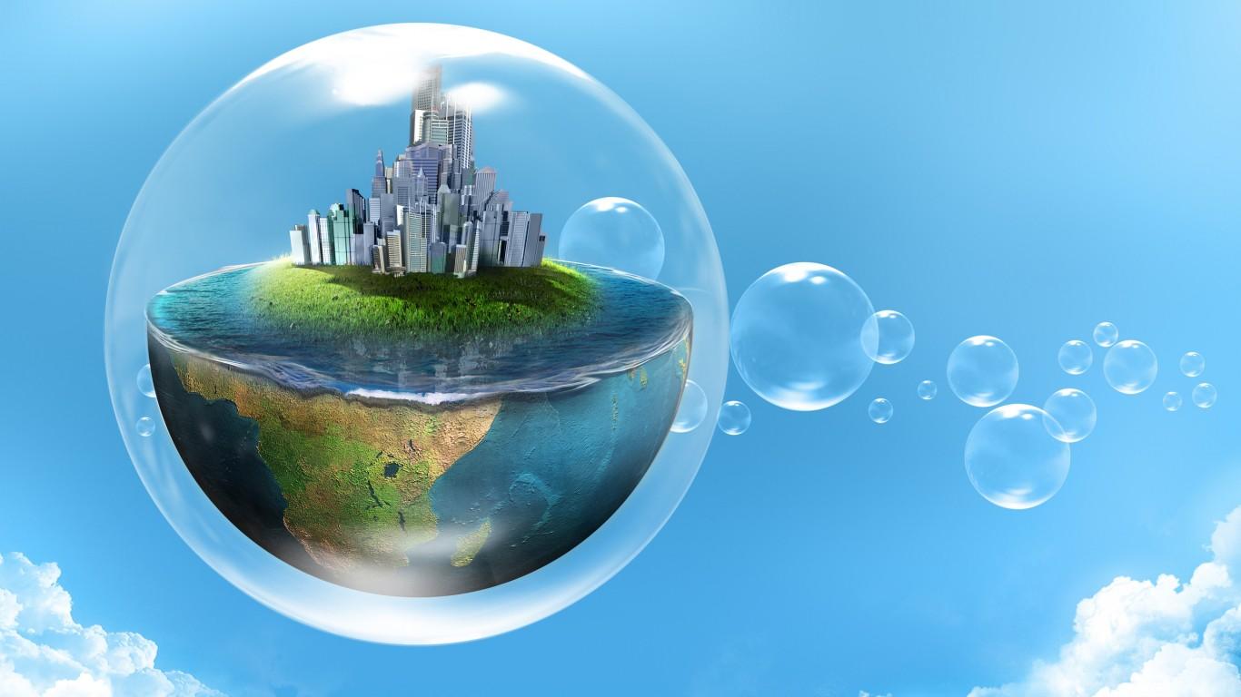 Bubble World HD Wallpaper 1366x768