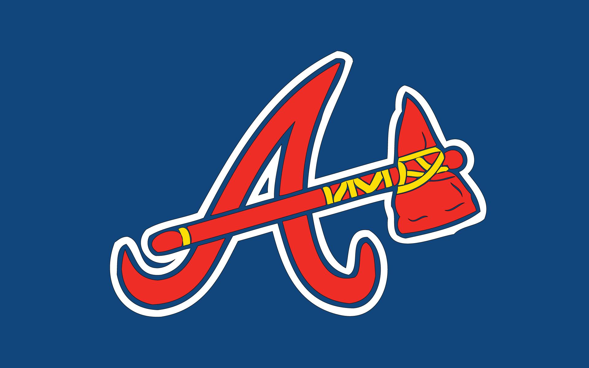 [42+] Atlanta Braves Logo Wallpaper on WallpaperSafari
