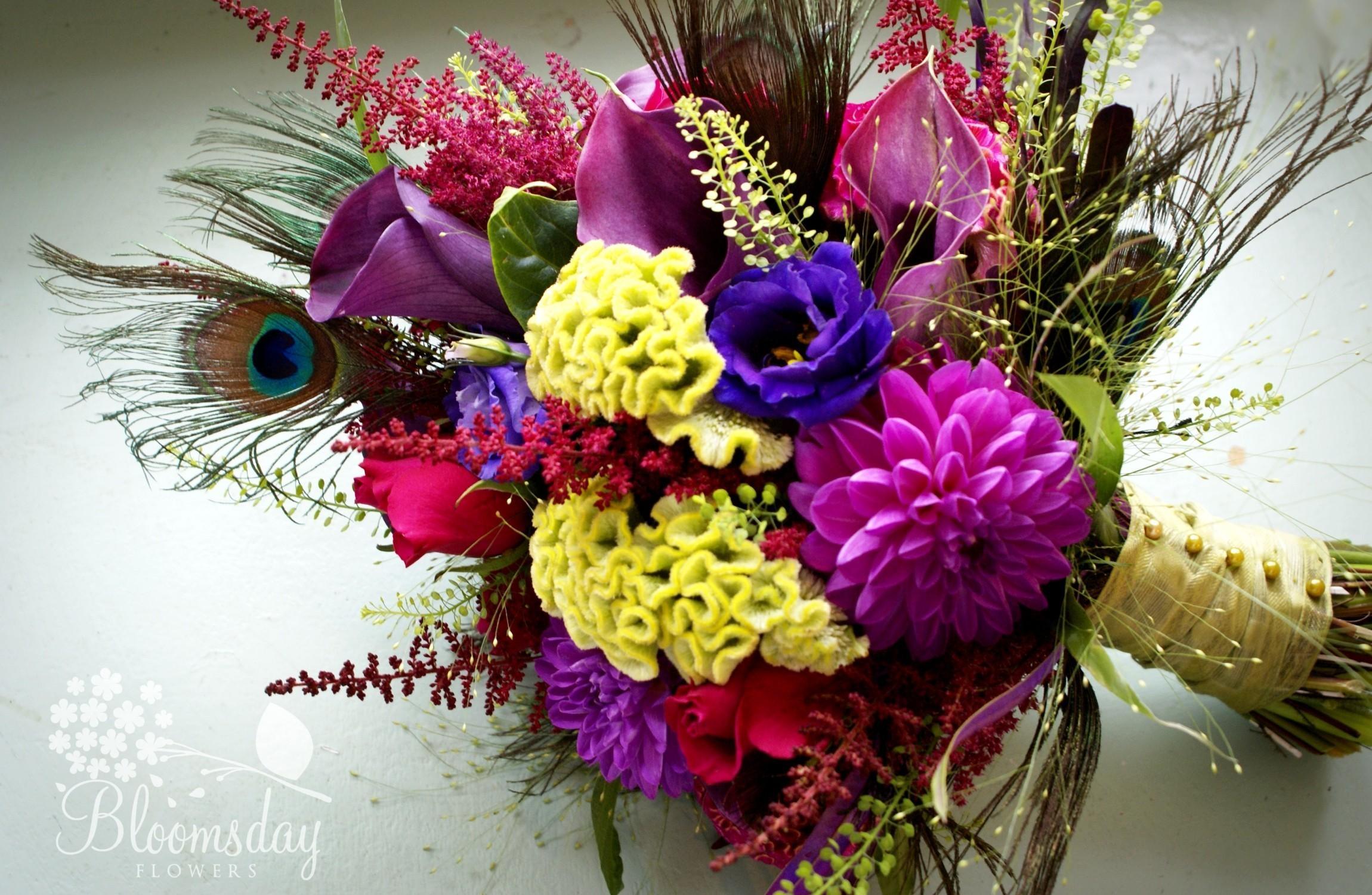 Dahlias Roses Calla Lilies Flowers Bouquet Design Composition 2300x1500