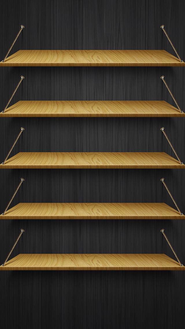 iPhone 5 Shelves iPhone Wallpaper HD 640x1136