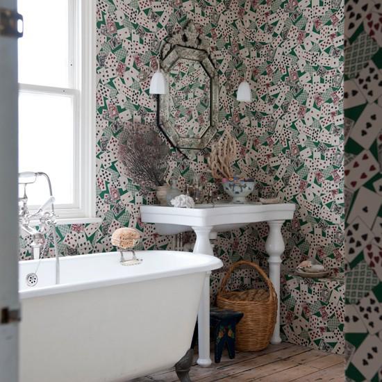 wallpaper Unusual bathroom decorating ideas housetohomecouk 550x550