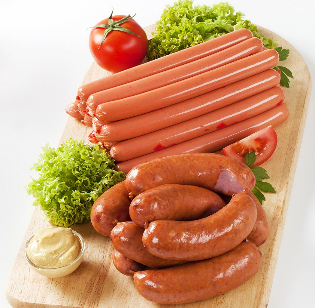 Wallpapers Vienna sausage Food Vegetables Meat products 1049x1024