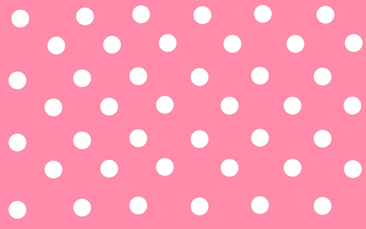 Cute Polka Dot Pink Wallpaper Backgrounds Pink Wallpaper Backgrounds 1280x800