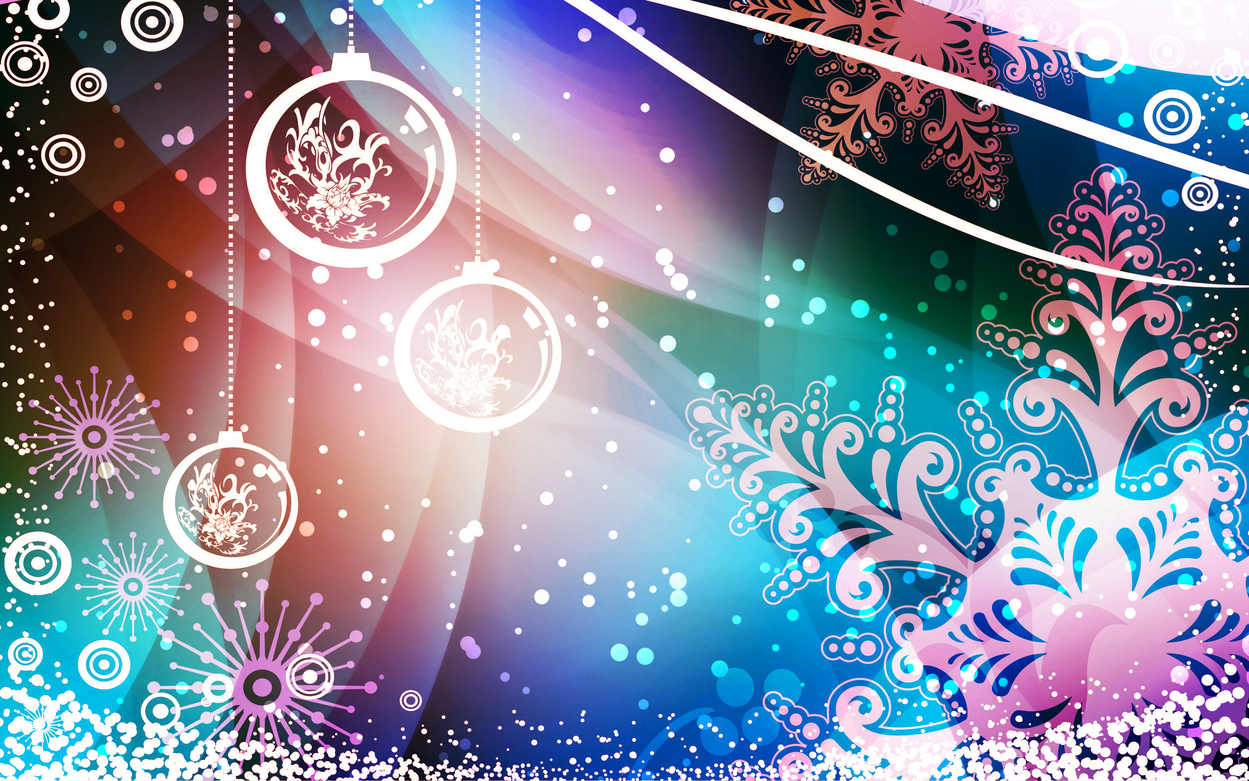 Christmas Backgrounds 2560x1600
