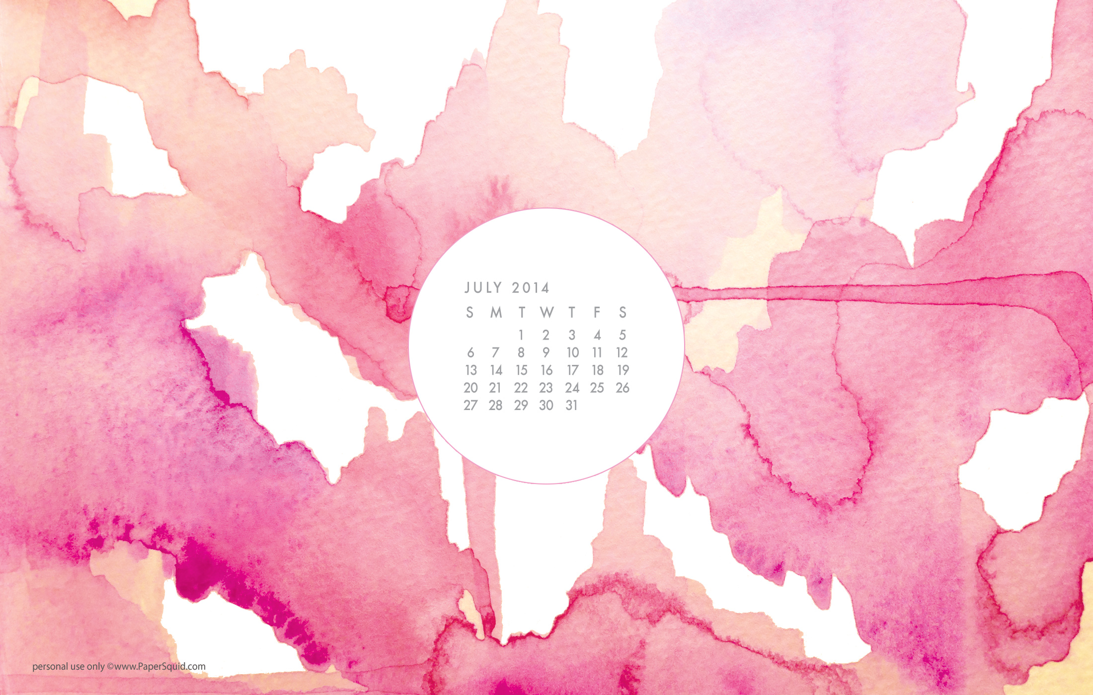 july 2014 watercolor desktop wallpape r download here