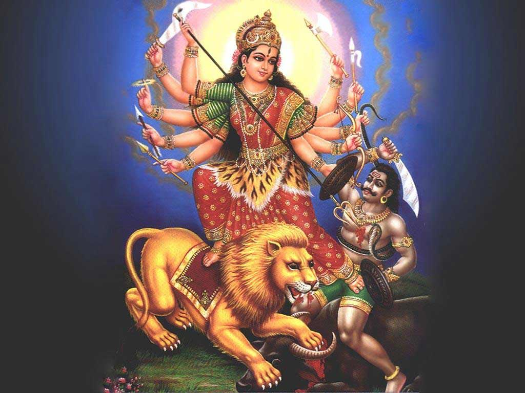 Philosopher Spirtual wallpapers Durga Goddess Navratri Festival 1024x768