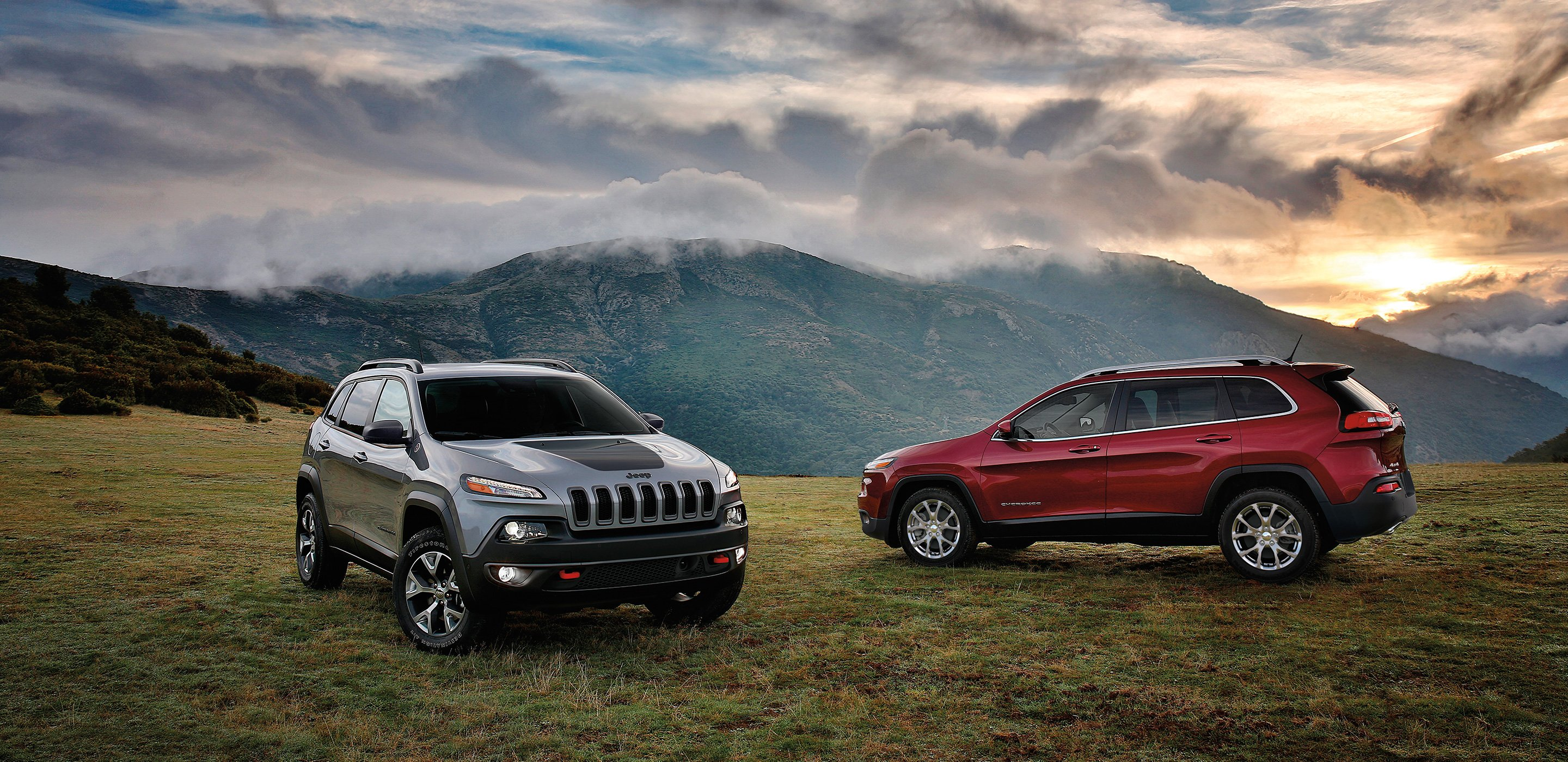 2019 Jeep Cherokee hills sun set uhd 4k wallpaper   Latest 2880x1400