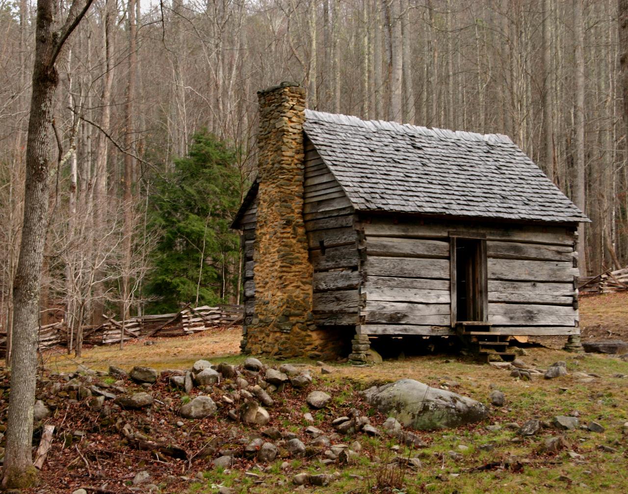 hunting cabin desktop wallpaper