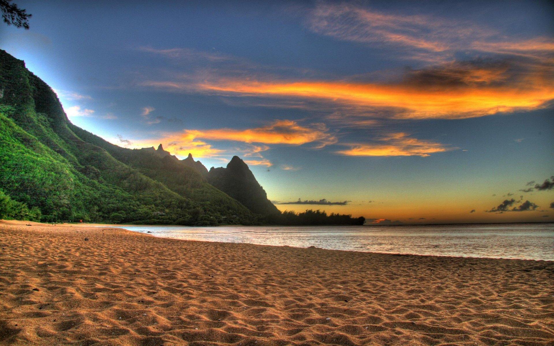 Hawaii Beach Sunset Wallpaper 1920x1200