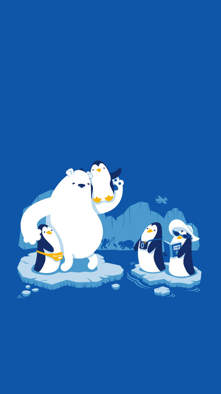 Polar bears and penguins iPhone 6 Wallpapers iPhone 6 Backgrounds and 750x1334