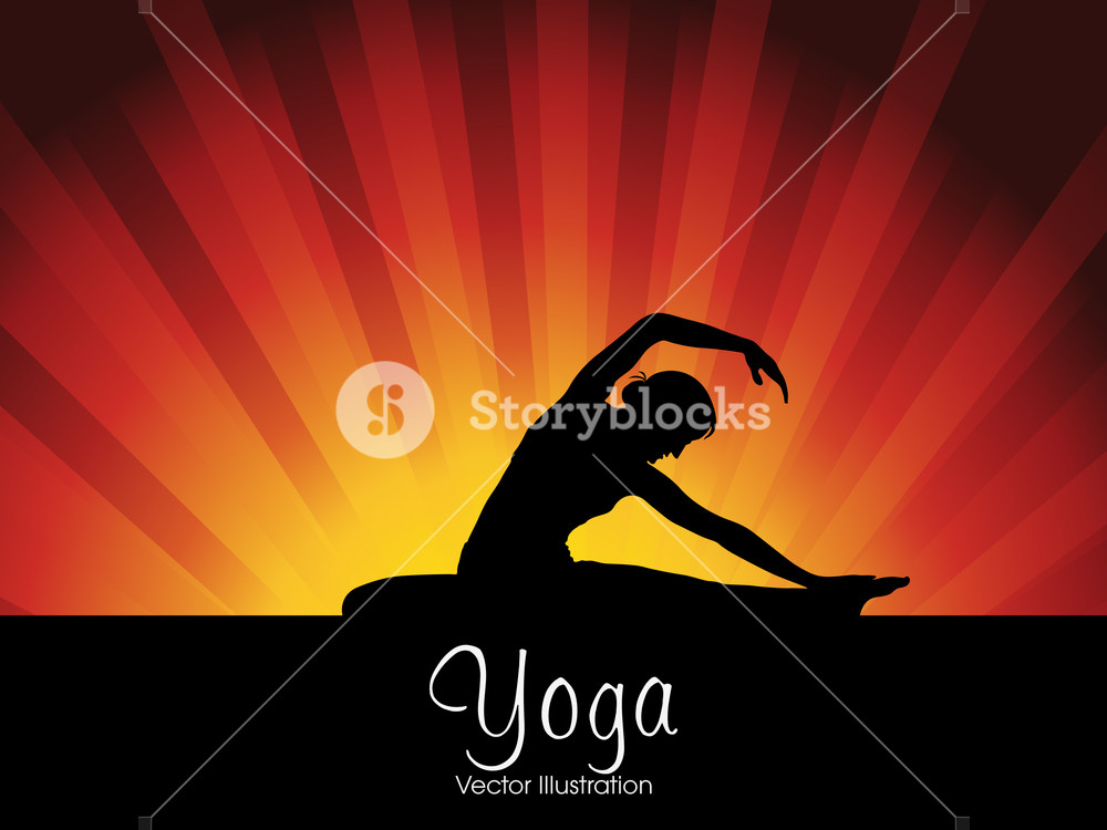 Abstract Medical Concept With Silhouette Of A Young Man In Yoga 1000x750