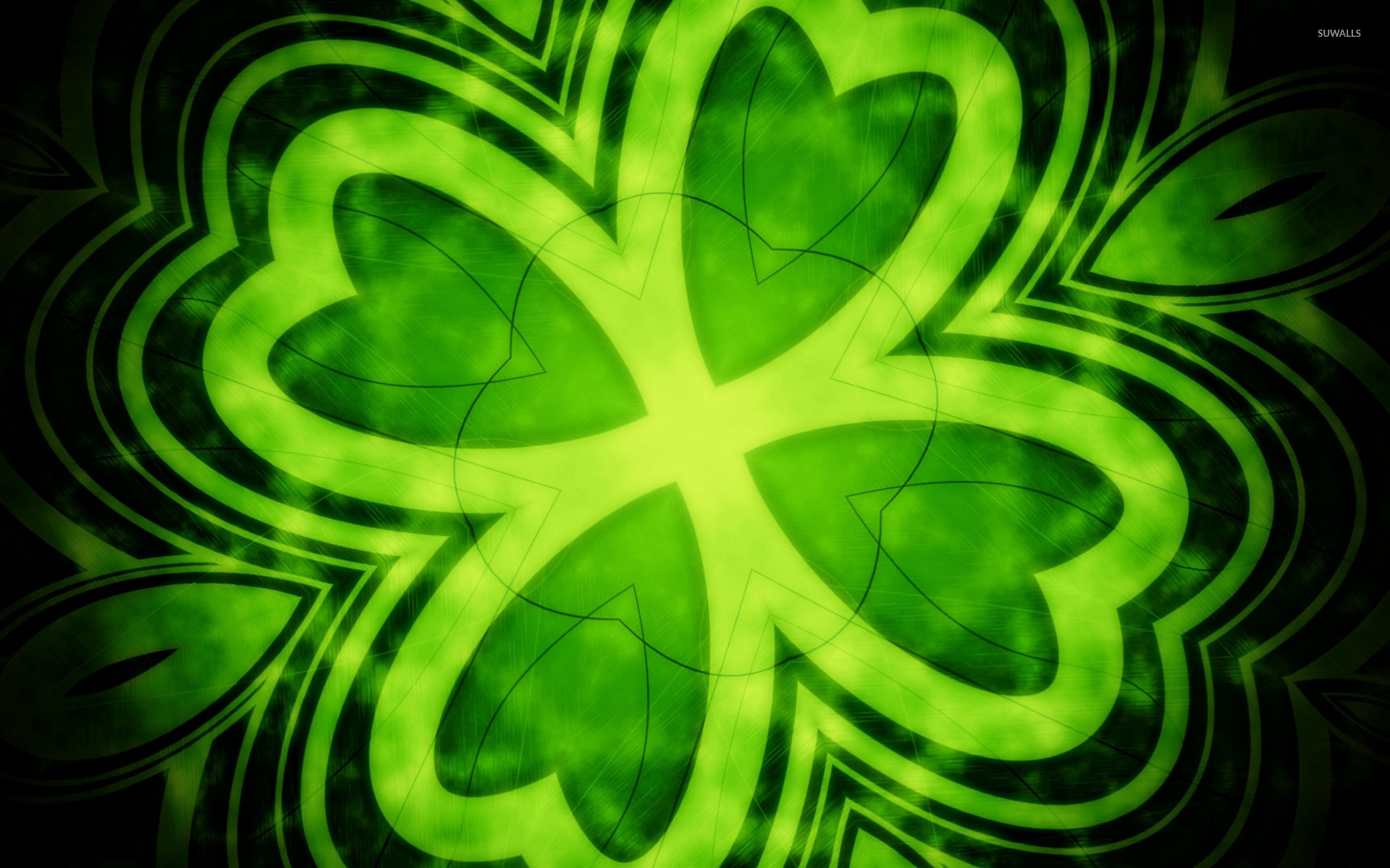 Four leaf clover wallpaper   Abstract wallpapers   14202 1680x1050