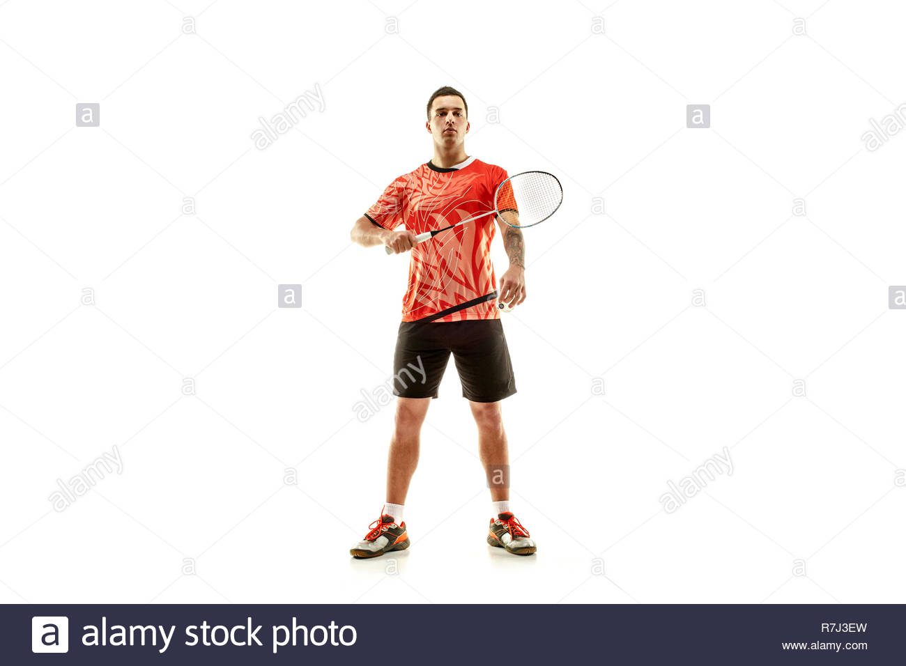 Badminton Player Cut Out Stock Images Pictures   Alamy 1300x956