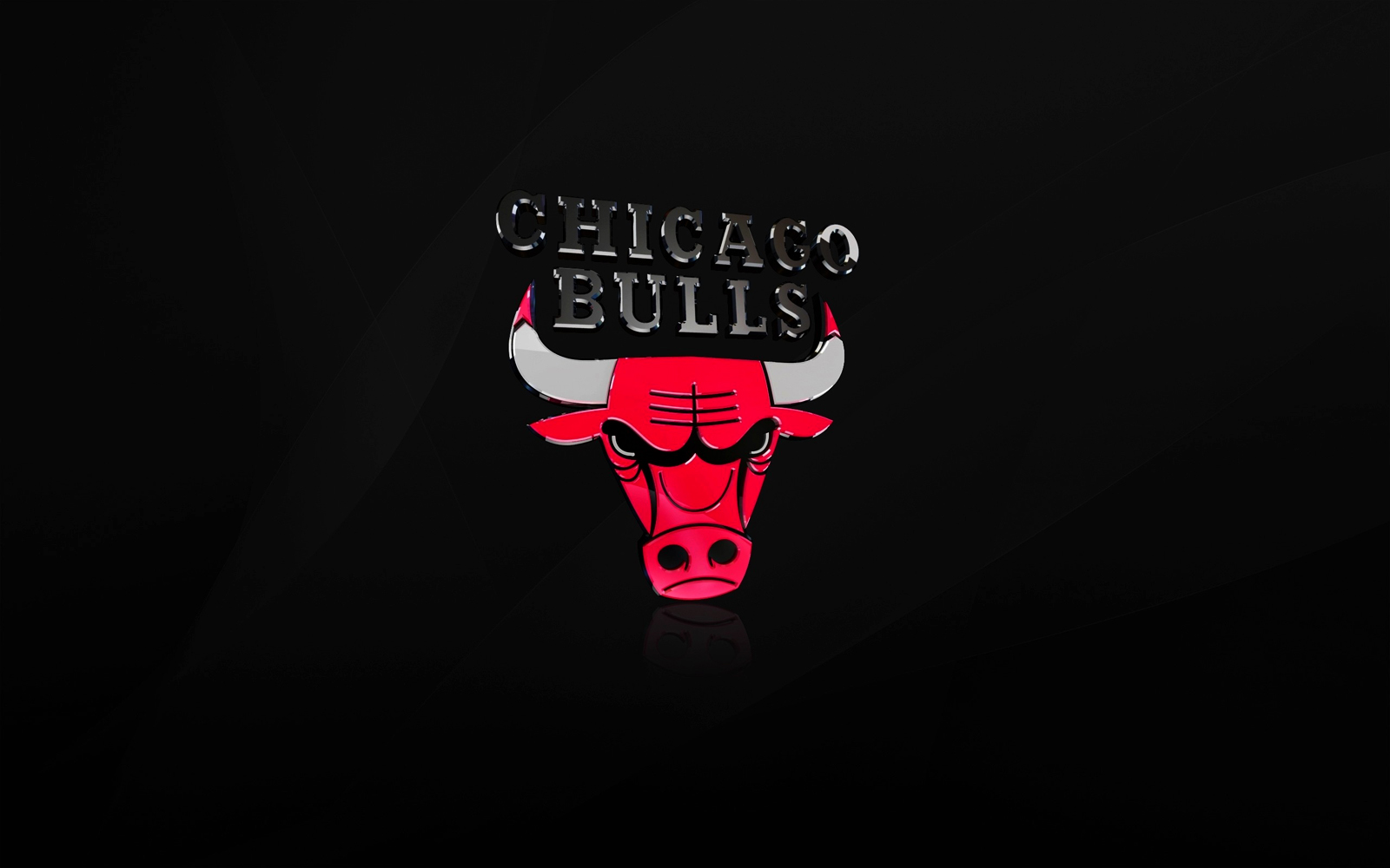 Chicago Bulls 3D Logo HD Wallpaper 1600x1000