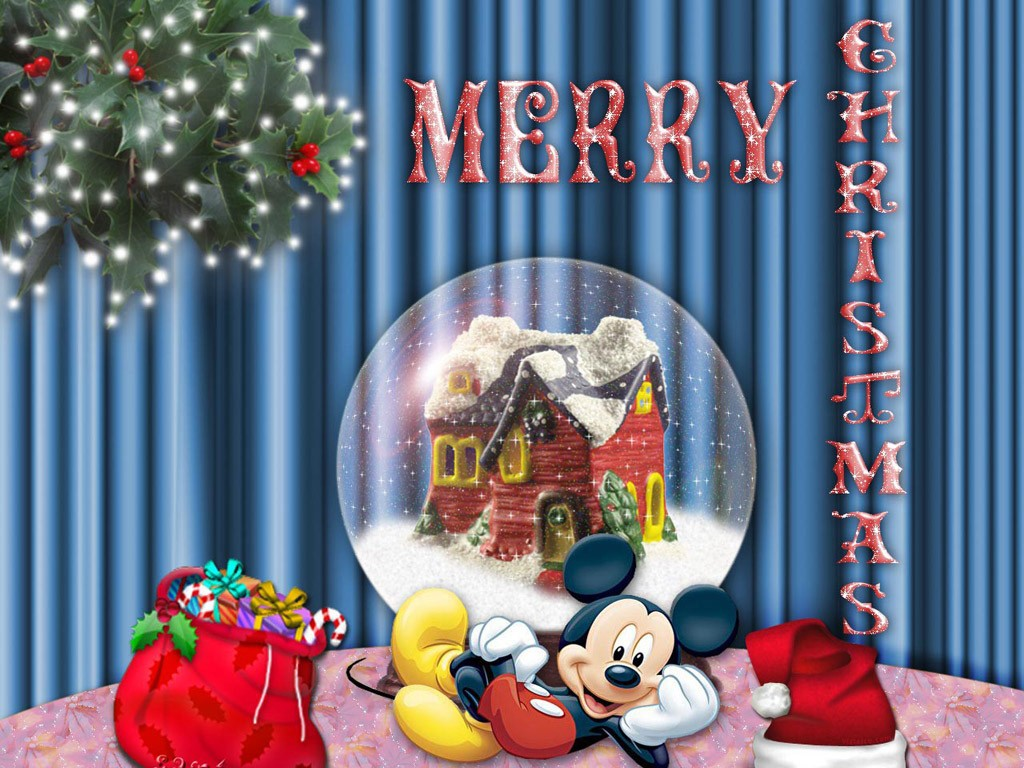 Free download New year wallpapers Mickey Mouse in dreams
