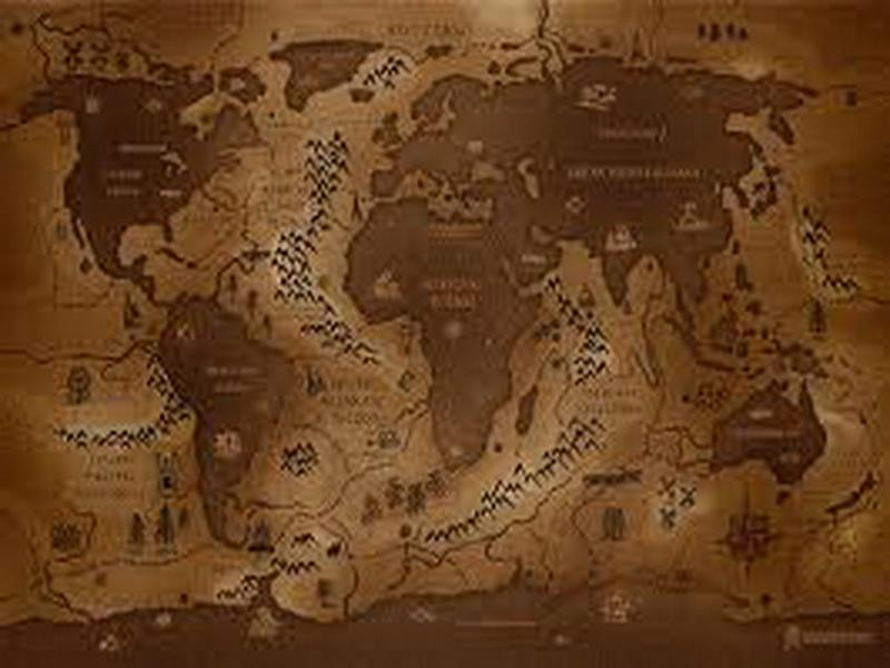 Home Design and Interior Design Gallery of Brown World Map Wallpaper 800x600