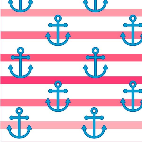 Pink Anchor Wallpaper 600x600
