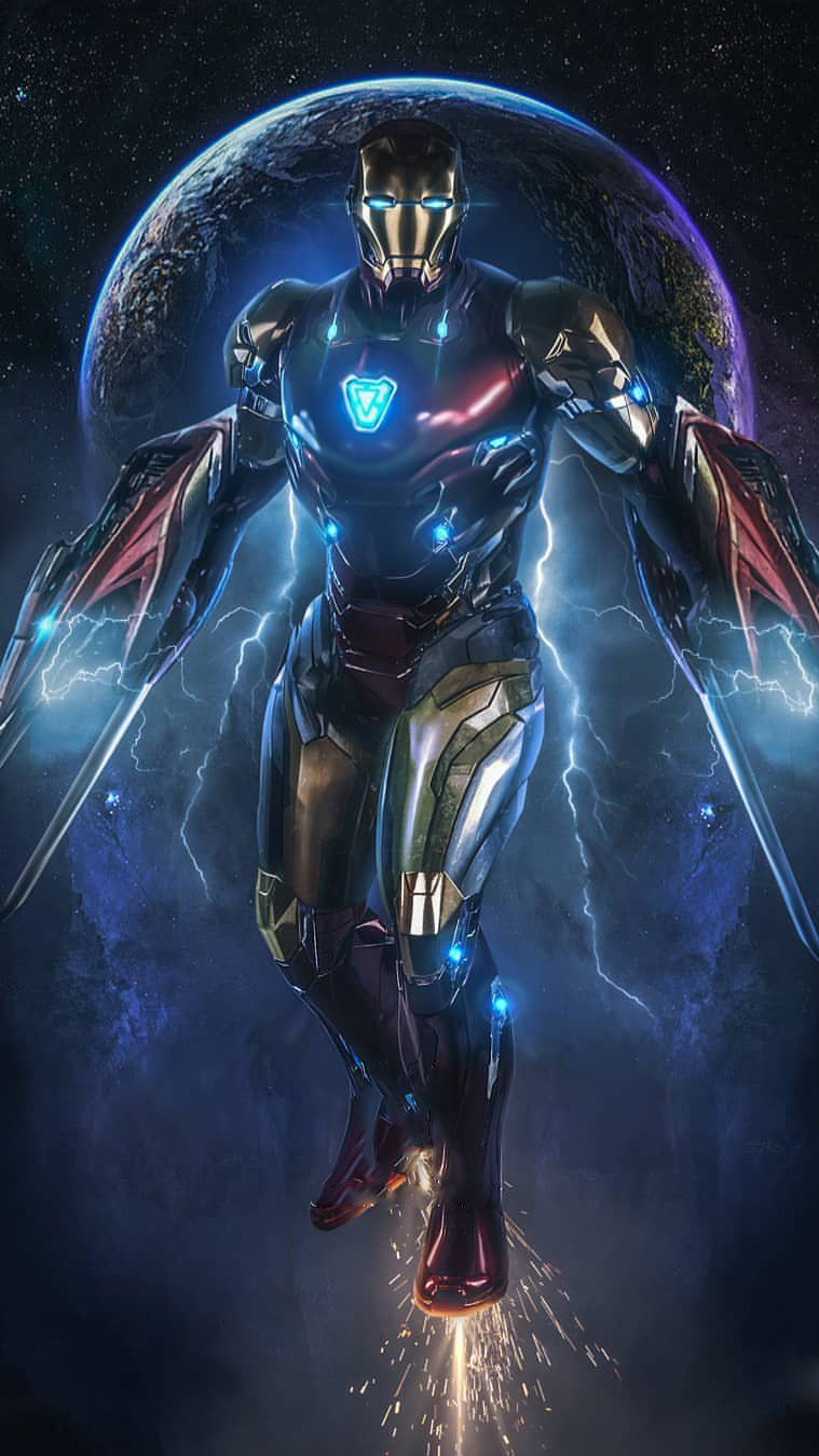 Free Download Iron Man In Space Avengers Endgame Iphone Wallpaper