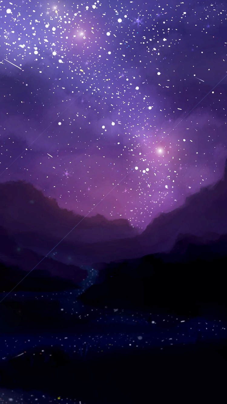 Night Iphone Stars Wallpaper 2020 3D iPhone Wallpaper