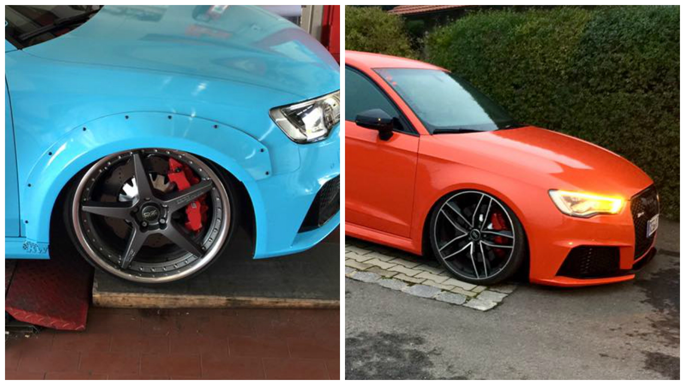 Audi RS3 8V Tuning Wide Body Kit and Lowered Suspension by 1366x768