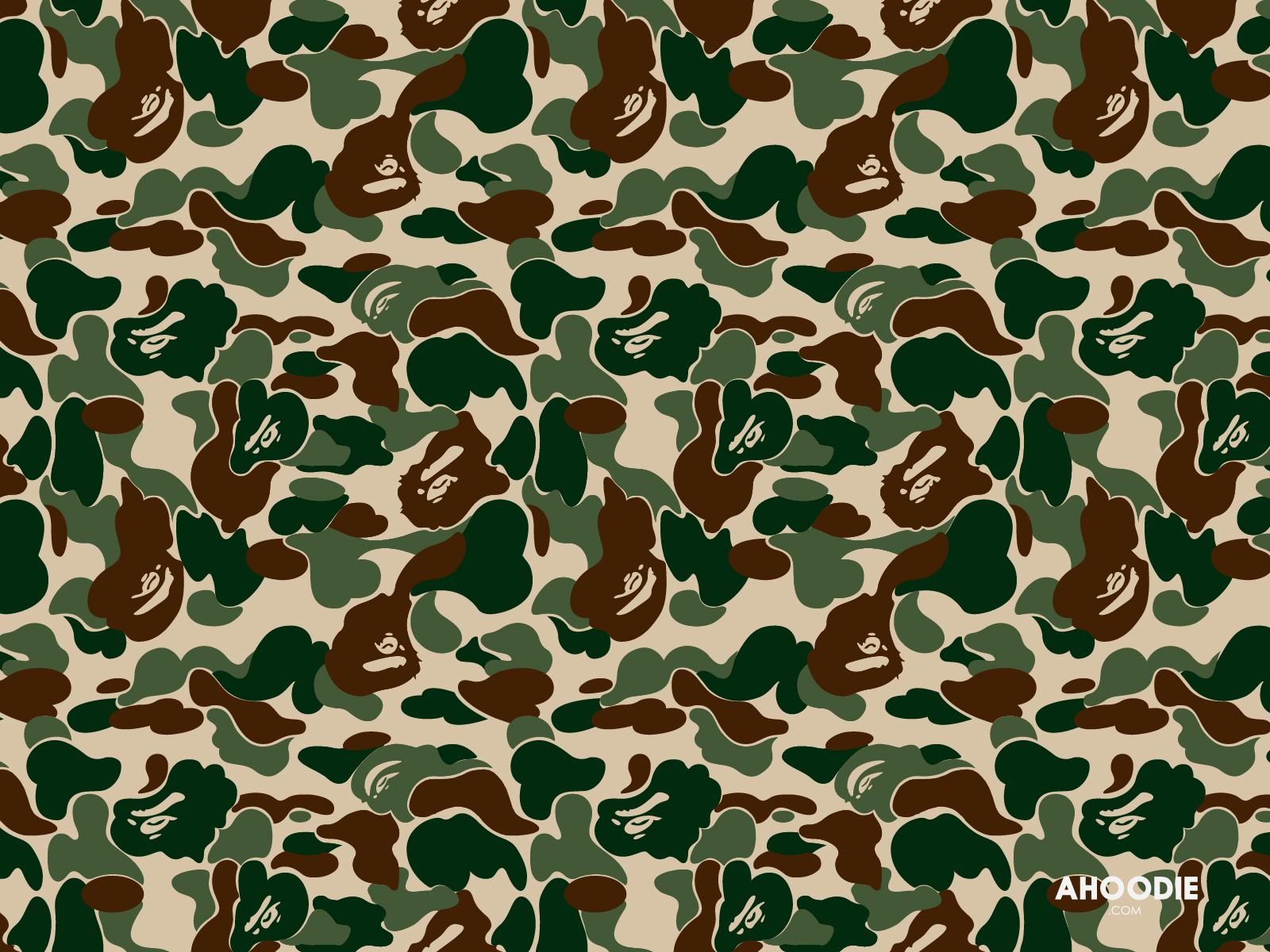 Wallpaper Camo Border Illustrazion 1600x1200