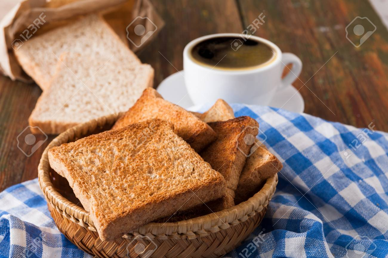 Breakfast Background Toast And Coffee On Rustic Wood Espresso 1300x866