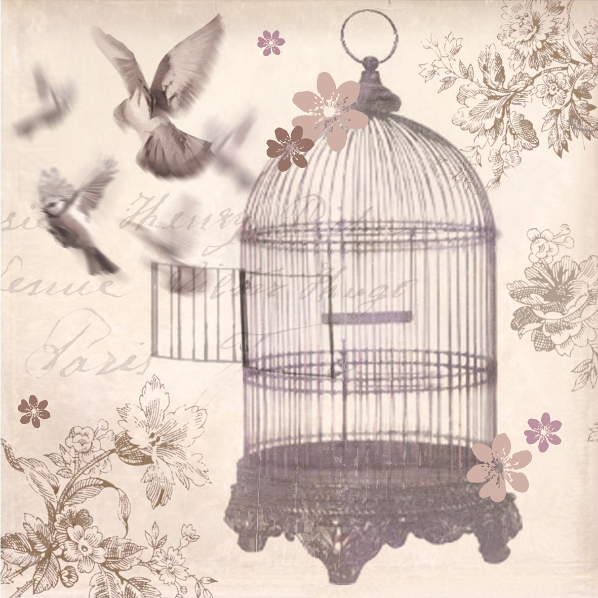 Bronze Birdcage canvas by Arthouse Wallpaper Direct 1181x1181