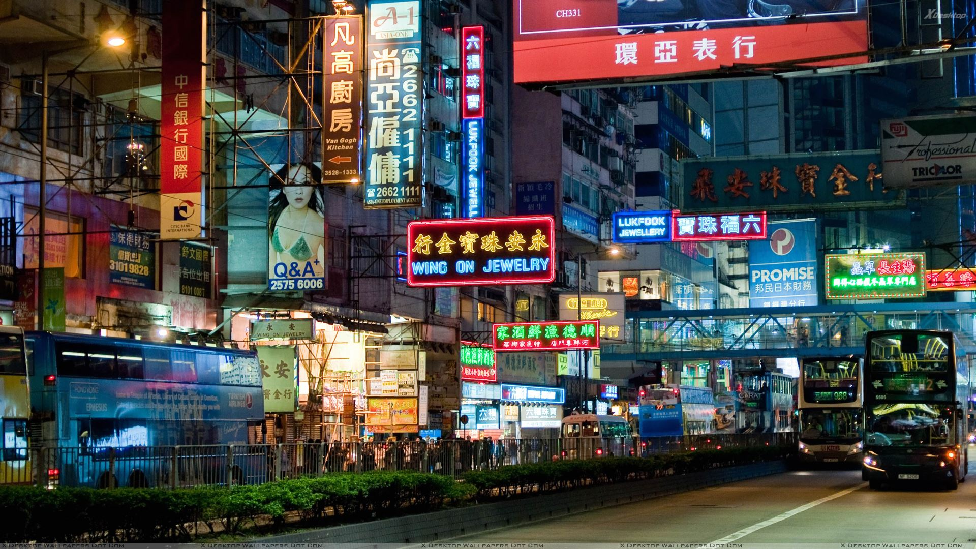 China Market Scene At Night Wallpaper 1920x1080