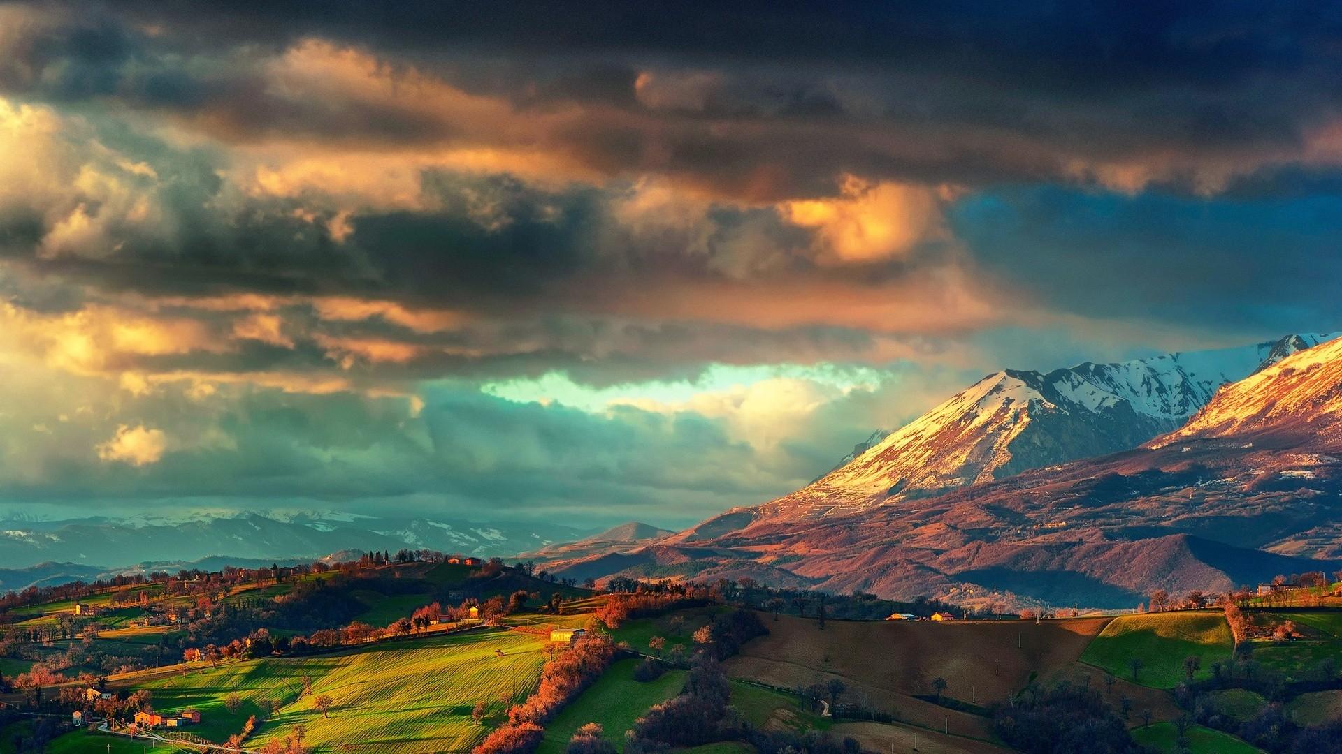green mountain valley HD Desktop Wallpaper HD Desktop Wallpaper 1920x1080