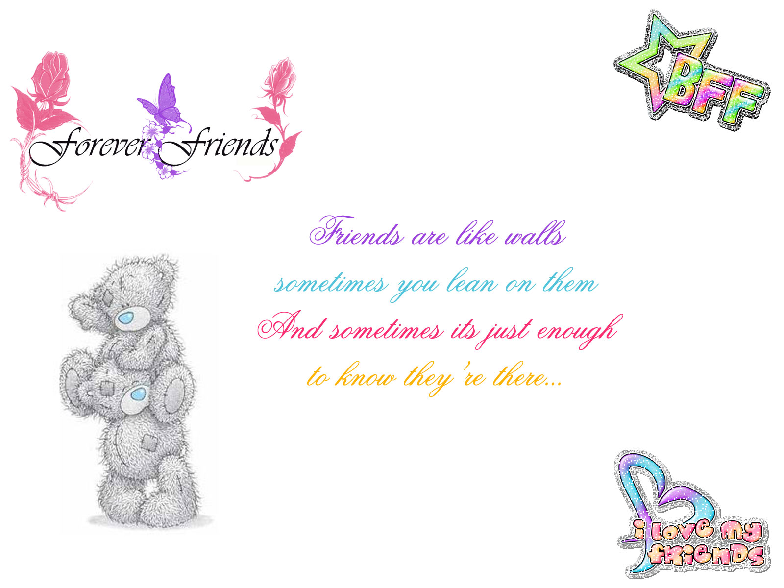 Friendship Quotes With Images Friendship wallpapers  Chobirdokan 1600x1200