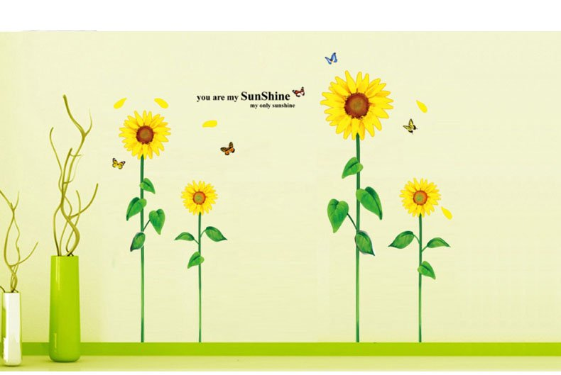 You are my sunshine Sunflower wallpaper Wall Sticker Wall Mural Home 790x529