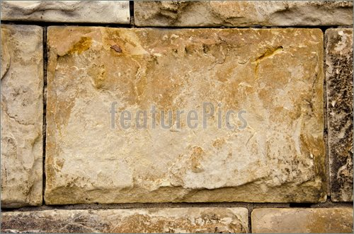 Ancient Building Walls Of Stone Blocks Background Photo Stock Photo 500x331