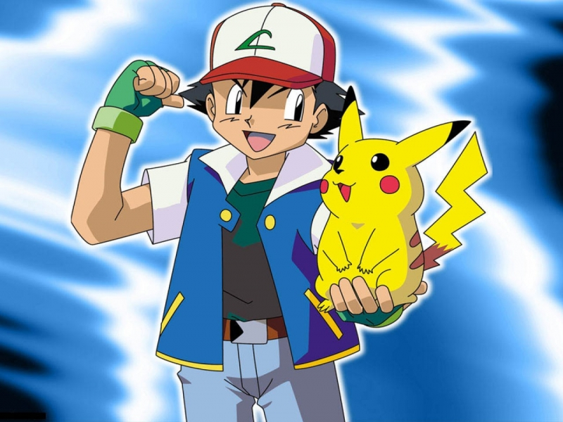 Download the Pokemon anime wallpaper titled Ash and Pikachu 800x600